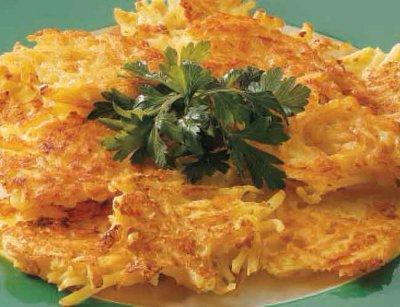 Оладьи картофельные с сыром