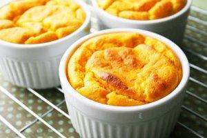 Суфле из картофеля и моркови со сливками