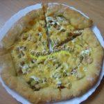 Дрожжевая пицца с сырными бортиками
